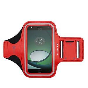 J&D Moto Z Play Droid Armband with Keyholder Slot, Perfect Earphone Connection