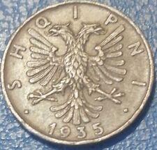 1935, Albania, 2 Qindar Ari, 1935, Roma, G. Romagnoli, R, Spl