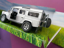 TEAMSTERZ LAND ROVER 4x4 DEFENDER DIECAST METAL NEW MODEL 1:34 IN SILVER EFFECT