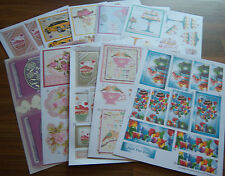Topper/Decoupage/Sentiment Sheets - x10 assorted 'craft clearout' sets will vary