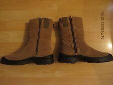 Women's Warm/Cozy Boots,SZ 6M,Water Resistant,Side Zip,Tan, Excellent Shape!