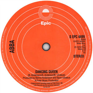 Abba. Record Label Vinyl Sticker. Dancing Queen. Waterloo. Mamma Mia