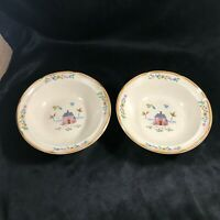 Pair of International Stoneware Japan HEARTLAND Soup Salad Bowls