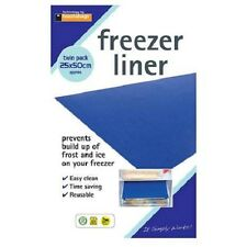 2 FRIDGE FREEZER LINERS MATS PREVENT BUILD UP OF FROST AND ICE DEFROST FL25502PB