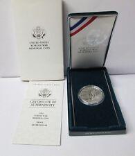 1991 Korean War Memorial Proof Silver Dollar