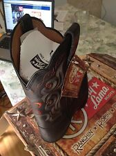 TONY LAMA Leather Black Stableford Cowboy Western Boots Men's Size 10 B NEW
