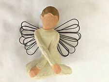 """Willow Tree 3.5"""" Serenity Angel Sitting with Arms Crossed Figurine"""