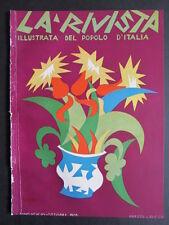 FORTUNATO DEPERO futurismo 1928 cover grafica d'autore RIVISTA POPOLO D'ITALIA