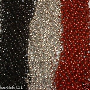 72 Red Silver Black Mardi Gras Gra Beads Necklaces Party Favors 6 Doz Lot Pirate
