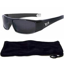 Limited Dark Black LOCS Mens Sunglasses New Motorcycle Shades FREE CASE