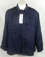 Propper BDU Men's Combat Coat Jacket 2 Pocket Navy Blue XL Long Military Coat