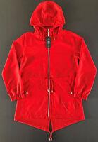 Damen Regenjacke Windbreaker Parka in a Pocket Kapuze Mantel Rot S 34-36 Primark