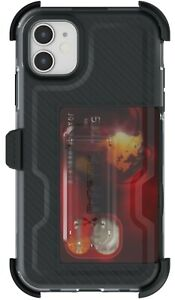 Belt Clip iPhone 11, 11 Pro, 11 Pro Max Case with Card Holder Ghostek Iron Armor
