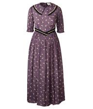ORLA KIELY Silk Rayon Midi Dress Lilac UK 12| Bag Coat Shirt Top Jacket Wallet