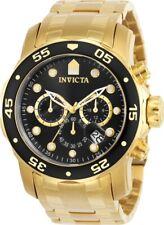 Invicta Reloj para hombre Pro Diver Cronógrafo Amarillo Oro Acero Inoxidable Pulsera 0072