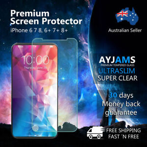2 X Tempered Glass Screen Protector For iPhone X XR XS MAX 8 7 6 Plus 6S 5