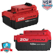 2 Pack of PORTER CABLE PCC685LP 20-volt MAX Lithium Ion 4.0-Ah Hour Pack Battery