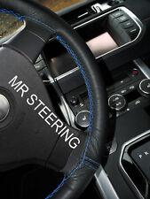 Para Toyota Prius MK3 09-15 Cubierta del Volante Cuero Azul claro doble puntada