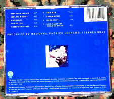 MADONNA TRUE BLUE CD US MADE IN JAPAN RARE 1986 PRINTED IN USA RARO OPEN YOUR