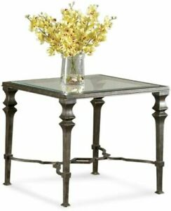 Bassett Mirror Lido Square End Table in Burnished Bronze Finish T1210-250EC
