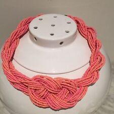 Wedding Party Prom Vintage  Pink Jewellery Multi Strand Choker Necklace