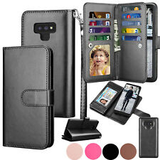 For Samsung Galaxy S9 S8 S7 S10 S20 Plus Note 10+ Leather Wallet Case Flip Cover