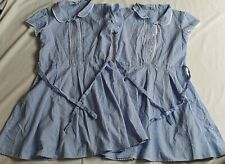 GIRL'S GINGHAM BLUE X 2 DRESES 12 YEARS OLD 152 Cm SCHOOL UNIFORM NEXT DAY POST