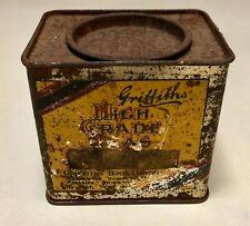 Vintage Rare Griffiths Pure Darjeeling 1/2lb Tea Tin Australia