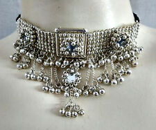 ATS Bohemian Gypsy Kuchi Tribal Ethnic Silver Necklace Belly Dance Hip Jewelry