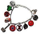 Marvel Comics AVENGERS 11 Themed Charms Metal/Enamel Charm BRACELET