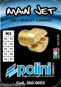 Coffret Boite 10 Gicleurs POLINI Ø 5 mm de 90 à 99 DELLORTO 10 Gicleurs