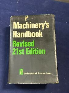 Machinery's Handbook, Revised 21st Edition, 4th Printing 1981 - Used