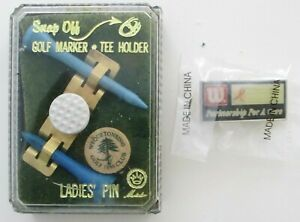Ladies Pin With Snap Off Golf Ball Marker Tee Holder Tees Wilson Pin