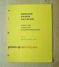 New Holland Model 363 Amp 367 Manure Spreader Service Parts Catalog Manual