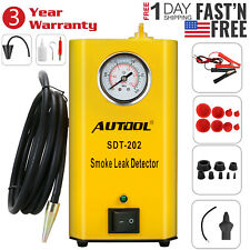 EVAP Smoke Machine Vacuum Diagnostic Leak Tester & Adapters AUTOOL SDT202 US