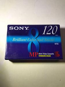 Sony 8mm Standard 120 min P6-120MPL Video Cassette Tape NEW SEALED