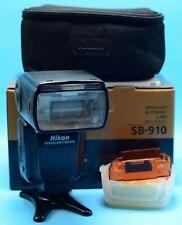 Nikon Speedlight SB-910 Shoe Mount Flash Exc+++++ In Box