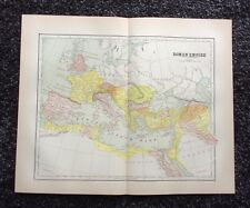Vintage Original Map 1897 Roman Empire, Eaton & Mains