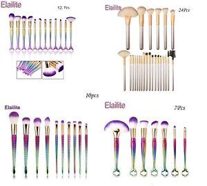 Make up Brush Set Buffer Powder Contour Eyeshadow Makeup Mermaid Rainbow Kabuki