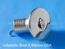 "Boat Deck Fill Filler Cap Keyless Angled 1-1/2"" -Fuel Gas Marine Stainless Steel"