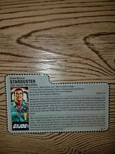 Gi Joe 1987 Starduster File Card Original non-repro Please Read!