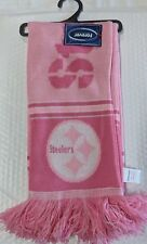 Pittsburgh Steelers Scarf Knit Winter Neck Double Sided Team Logo New PINK Rare