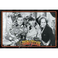 """THE THREE STOOGES POSTER - CLASSIC MOVIE SCENE - 91 x 61 cm 36"""" x 24"""""""
