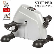 Mini Stepper Pedal Exercise Bike Fitness Home Gym Cycle Leg Arm w/ LCD Display T