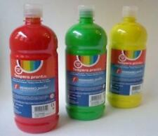 03 FLACONI DA 500ml DI TEMPERA PRONTA FERRARIO Junior - COLORI ASSORTITI -