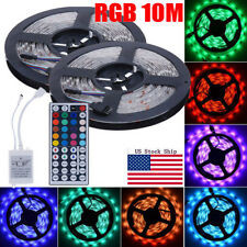 10M 5050 SMD RGB 600LEDs White SMD LED Light Strip  44 Key IR Remote Controller