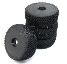 HoBao 1/8 Hyper 7 SS - TIRES (Set of 4 Glued Black Wheels Rims Tyres 90029) OFNA