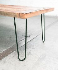 """16"""" Heavy Duty Hairpin Legs (Satin Black)  Mid Century Modern  Set of 4 Table..."""