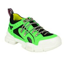 0a5631a88 Gucci Neon Green Reflective Flashtrek Hiking SNEAKERS Shoes Size 7 8