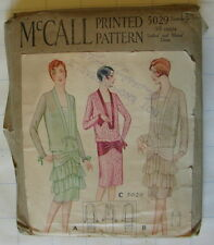 RARE VTG ANTIQUE 1920s DRESS McCALL #5029 SEWING PATTERN Size 16 yr